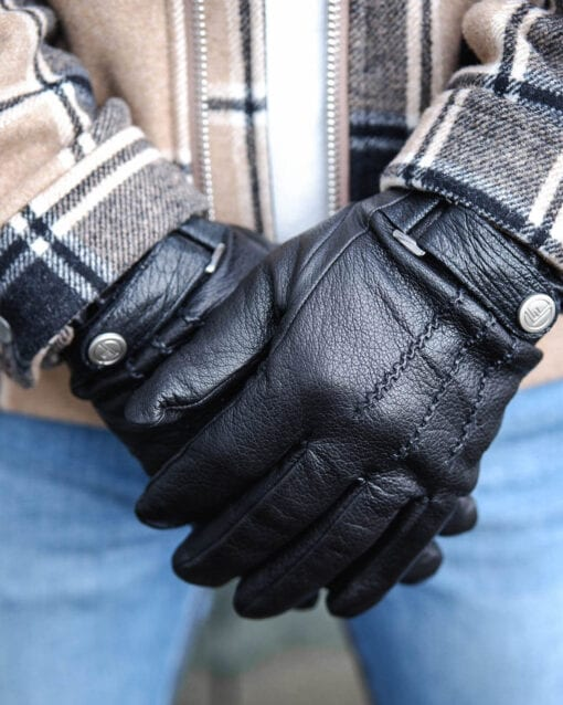 Schwarze Handschuhe Jack Frickin