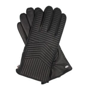 Mace exclusieve zwart lederen handschoenen heren met rits