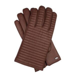 bruine leren heren handschoenen met motief