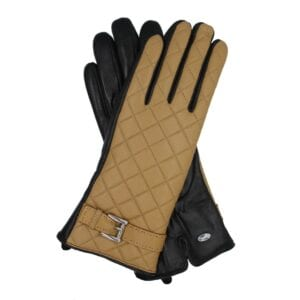Suze zen touchscreen handschoenen okergeel met motief