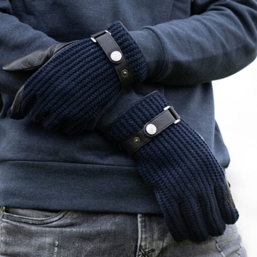 Frickin Ace heren handschoenen blauw wol 5
