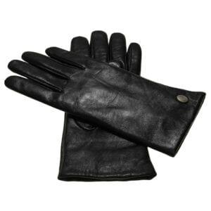 Ava dames leren handschoenen in kleur zwart