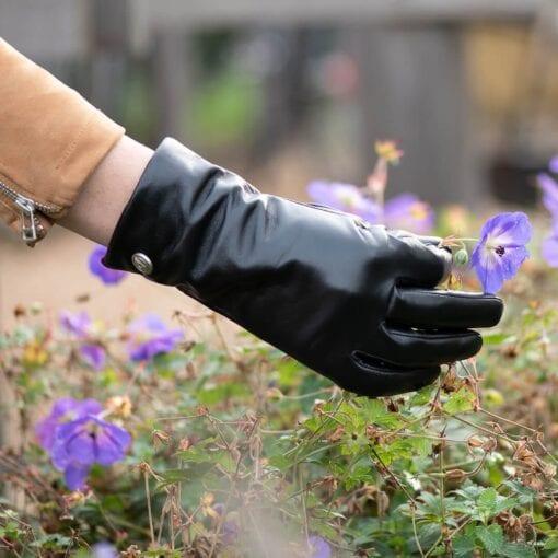 Frickin Ava dames handschoenen effen zwart 5