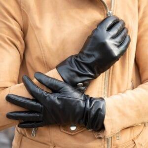Frickin Ava dames handschoenen effen zwart 6