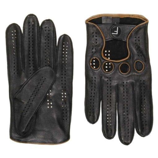 F1 Driving gloves (Zwart-geel) autohandschoenen heren handschoenen