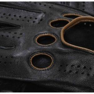 F1 Fahrhandschuhe (Schwarz-Gelb) Fahrhandschuhe Herren Handschuhe
