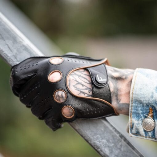 Frickin F1 Driving gloves autohandschoenen zwart bruin 4