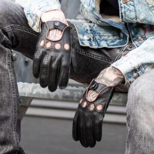 Frickin F1 Driving gloves autohandschoenen zwart bruin 6