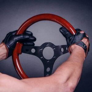 Frickin F1 Driving gloves autohandschoenen zwart bruin 7