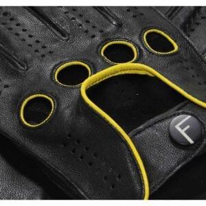 F1 Driving gloves (Zwart-geel) autohandschoenen heren