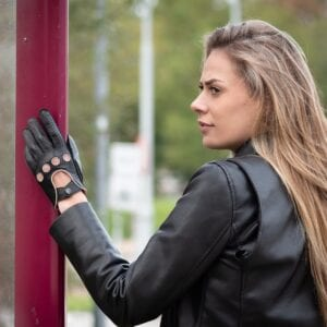 Frickin F1 Driving gloves autohandschoenen zwart roze 4