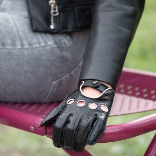 Frickin F1 Driving gloves autohandschoenen zwart roze 5