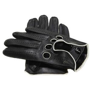 F1 Driving gloves Zwart wit