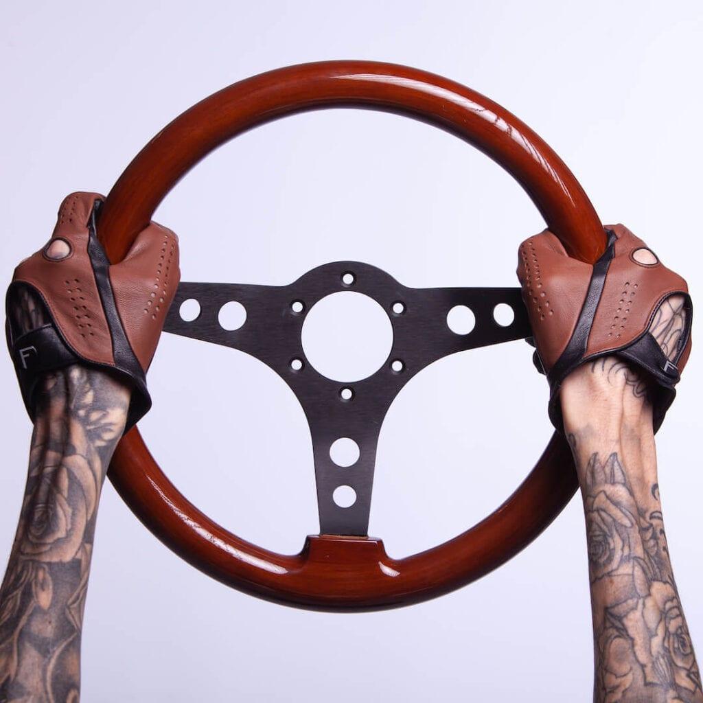 Herren-Autohandschuhe aus Leder