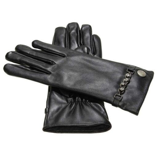 Hope zen eco leren handschoenen met bling bling
