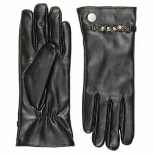 Hope zen eco lederen handschoenen met bling bling