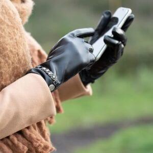 Frickin Hope dames handschoenen zwart 5