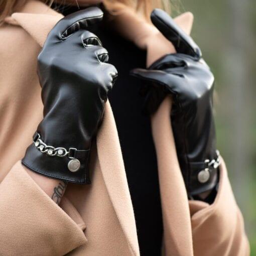 Frickin Hope dames handschoenen zwart 6