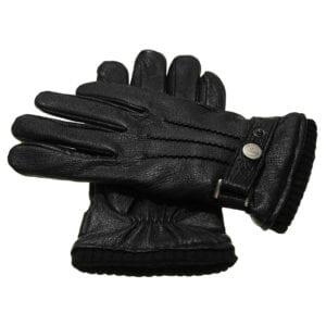 Jack zLeren Heren Handschoenen Zwart met gesp