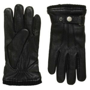 Jack zwarte leren heren handschoenen met gesp