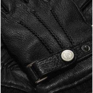 Jack black leather men's gloves with buckle