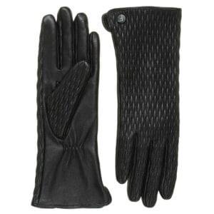 Jade Elite leren dames handschoenen met motief