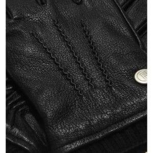 James leather gloves black