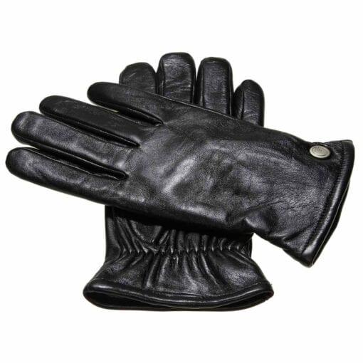 Jesse leren heren handschoenen effen zwart