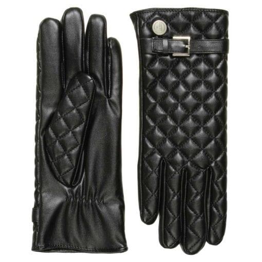 Joy luxe vegan eco lederen handschoenen met riem