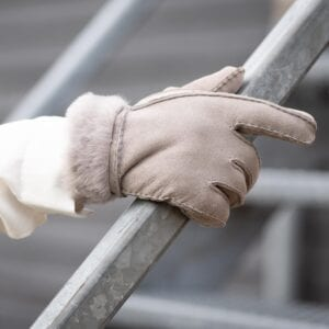 Frickin Liv dames handschoenen grijs lammy 4