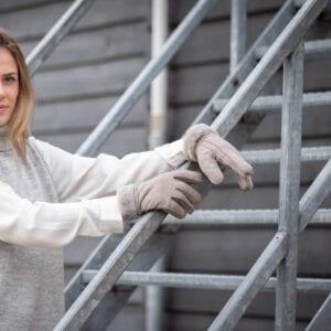 Frickin Liv dames handschoenen grijs lammy 5