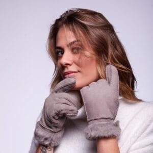 Frickin Liv dames handschoenen grijs lammy 7