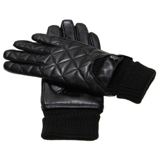 Logan Leren Handschoenen voor Heren met motief