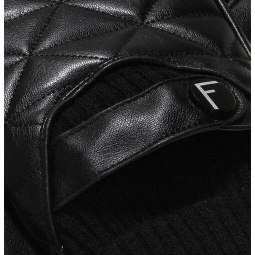 Logan Elite gevoerde eco lederen handschoenen met motief