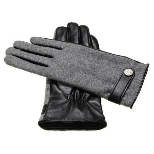 Roxy Dames Eco Lederen Handschoenen met button