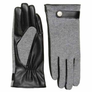 Roxy exclusieve eco leren grijze handschoenen met button