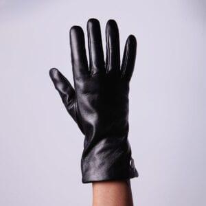 Frickin Ava dames leren handschoenen in kleur zwart