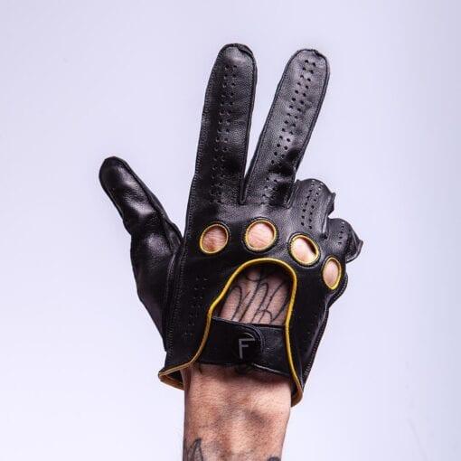 Men's leather car gloves