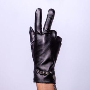 Frickin Hope zen eco leren handschoenen met bling bling