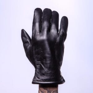 Frickin Jesse leren heren handschoenen effen zwart