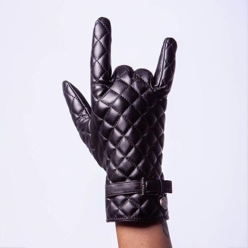 Frickin Joy luxe vegan eco lederen dames handschoenen met riem