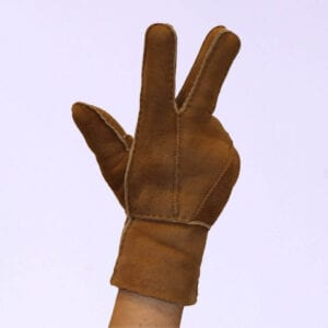 Camel leren dames handschoenen