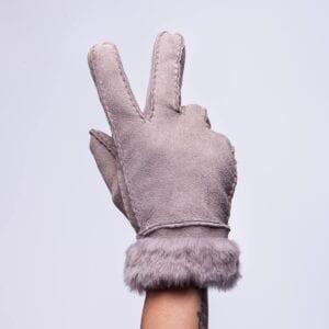 Frickin Liv Elite suede leren dames handschoenen grijs