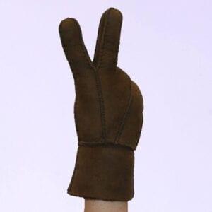 Suede Bruine Dames Handschoenen