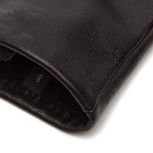 Schwarze Glattlederhandschuhe Damen