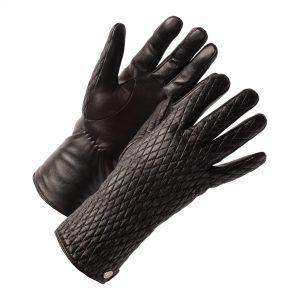 leren dames handschoenen met motief