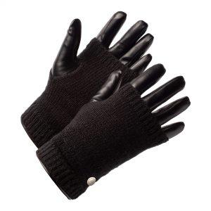 Zwarte Vegan Leren Handschoenen Dames
