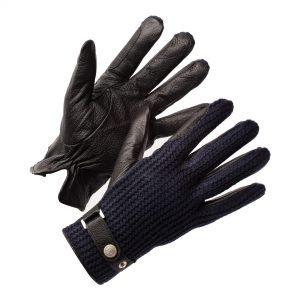 Blauwe Leren handschoenen heren