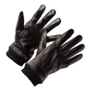 Zwart Leren Handschoenen Heren