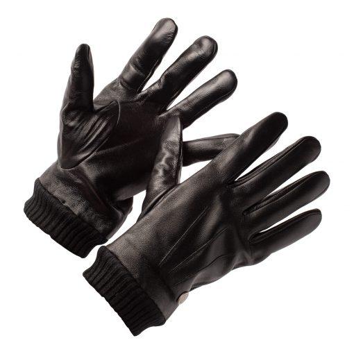 Schwarze Lederhandschuhe für Männer